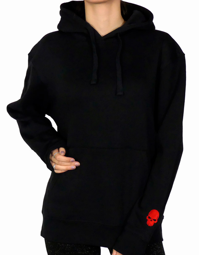 Roter Skull Hoodie Front