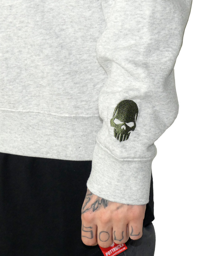 Green Skull Sweatshirt-aermel-stick